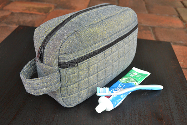 Toiletry Bag for Dad Tutorial