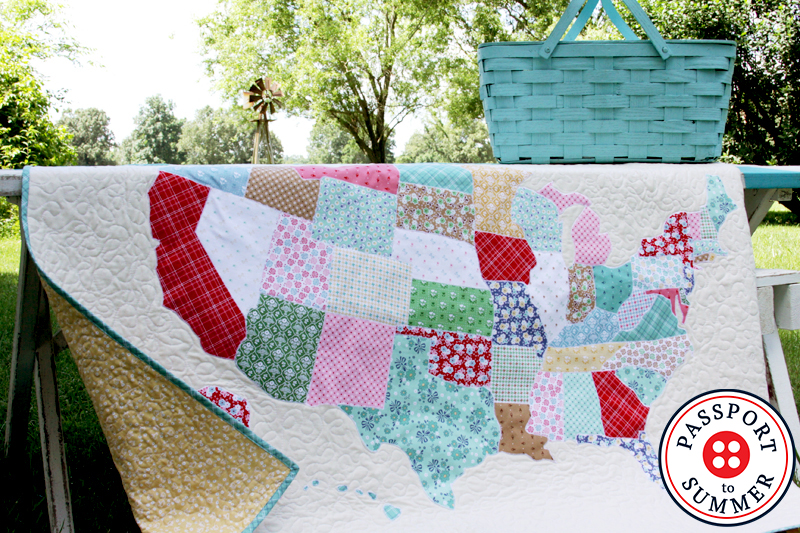 U.S. Map Quilt Tutorial