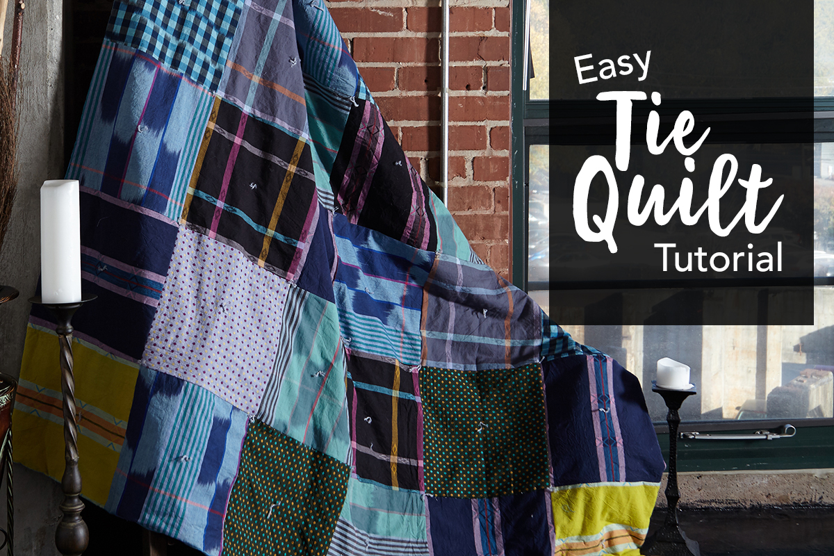 Easy Retro Loominous Tie Quilt Wrap Yourself Up In This Comfy