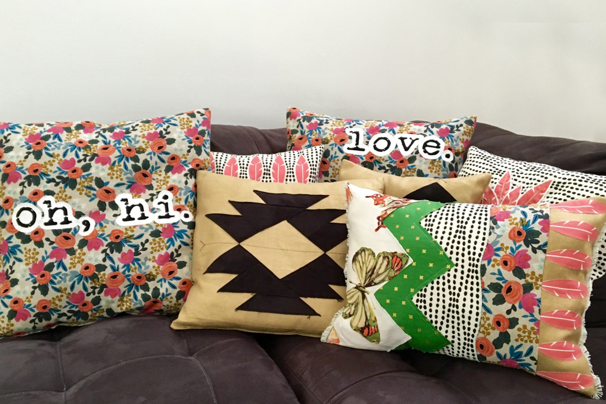 Patch & Piece Pillow Makeover