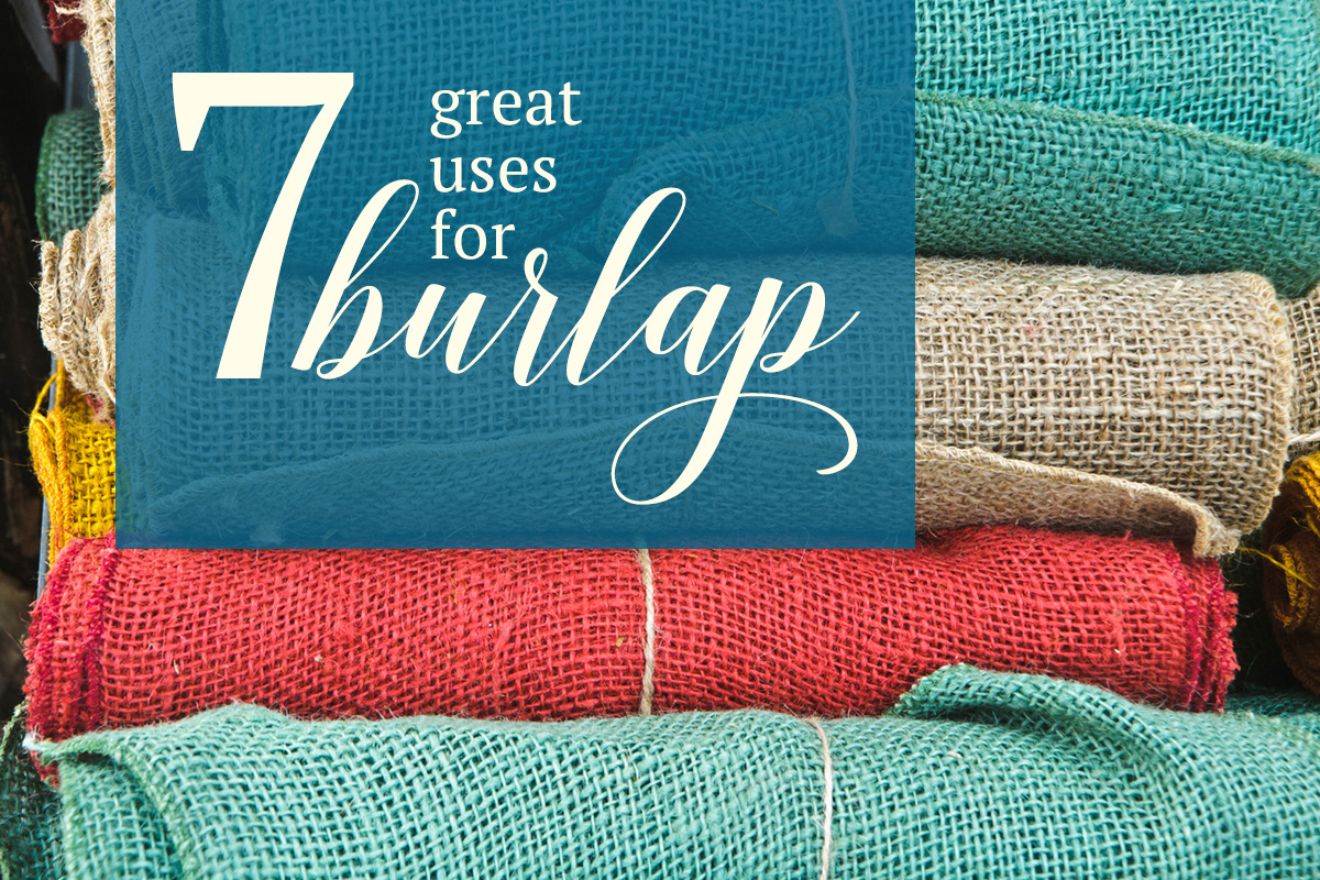 Home decor page 1 blog here are all of for Decorative burlap fabric