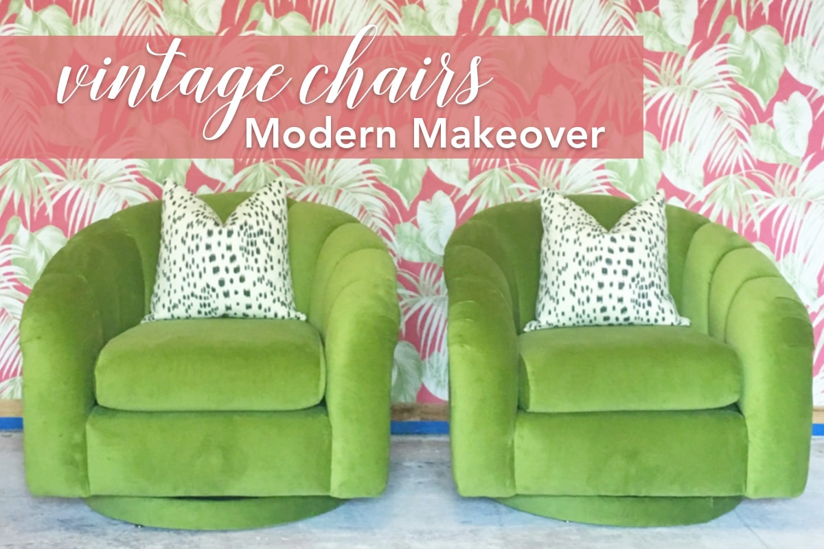 Vintage Chairs Modern Makeover