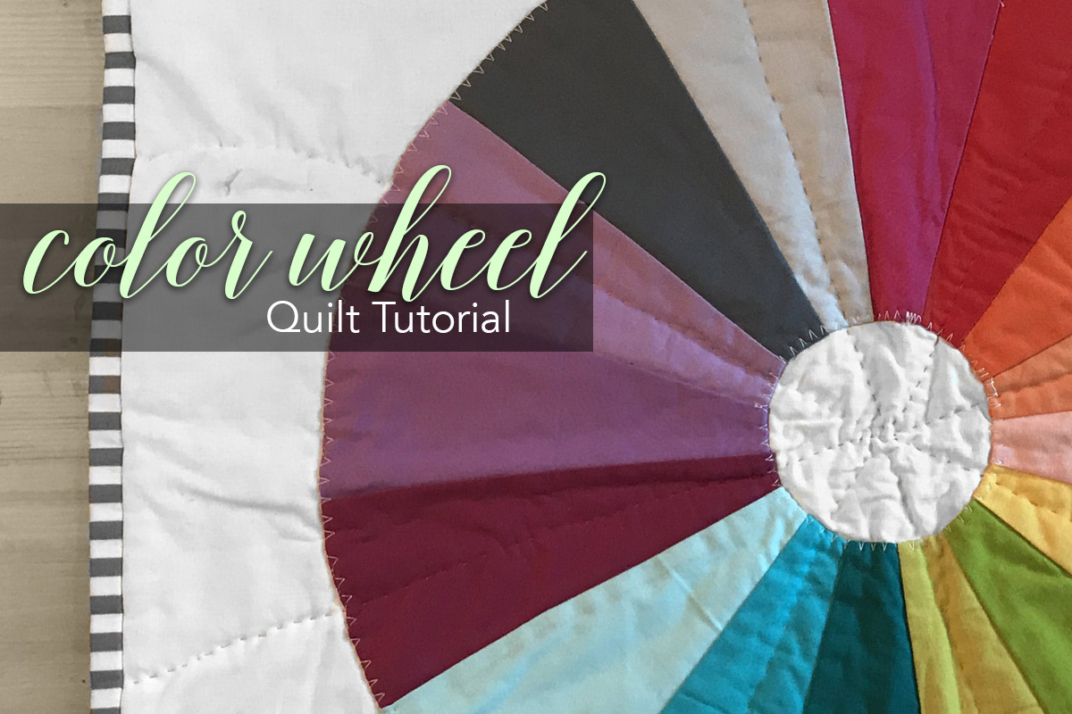 Color wheel quilt tutorial create a color wheel mini quilt with easy applique color wheel mini quilt nvjuhfo Images
