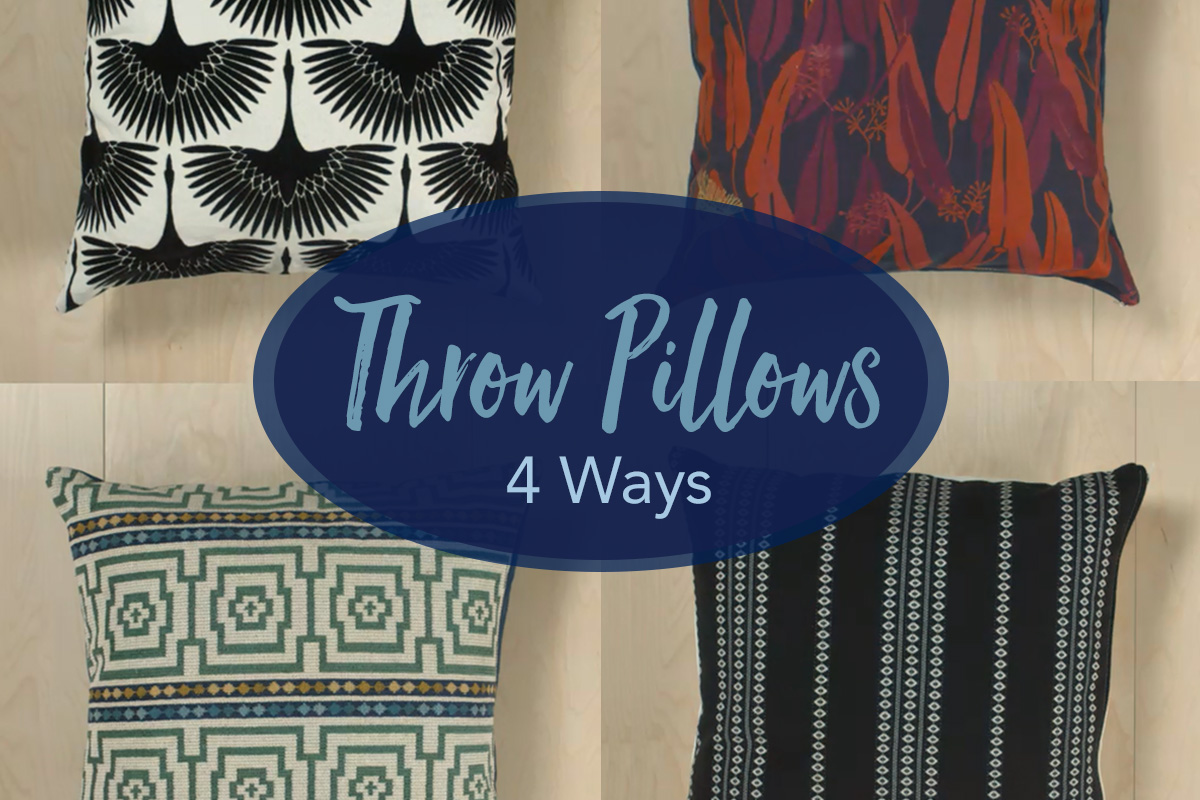 Throw Pillows 4 Ways