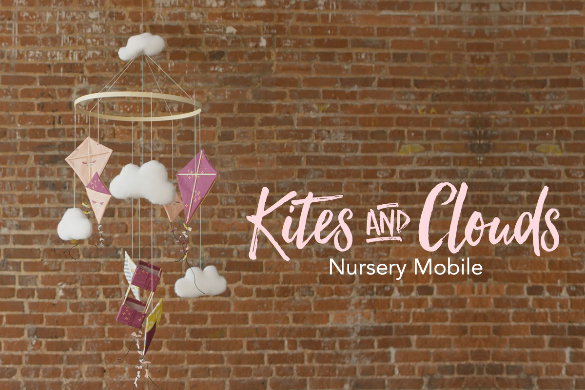 Kites & Clouds Nursery Mobile