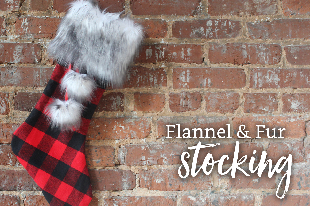 DIY Flannel and Fur Christmas Stockings Free Pattern