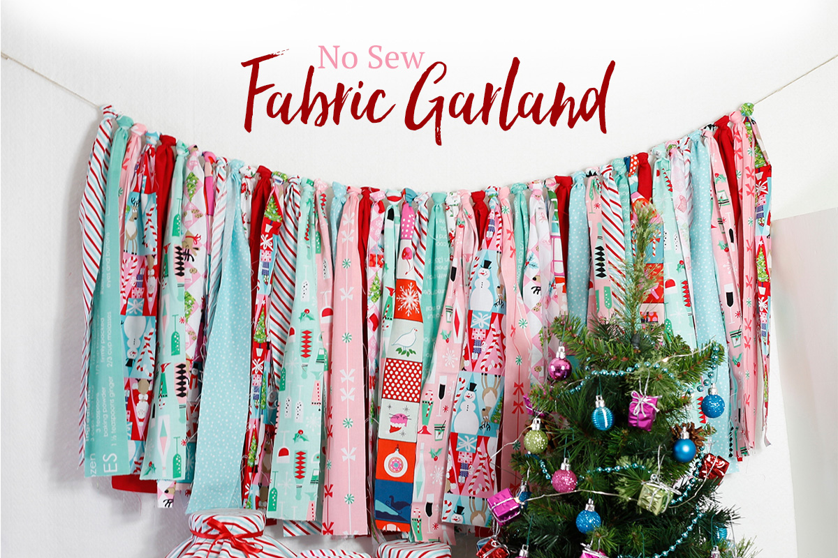 No Sew Fabric Garland