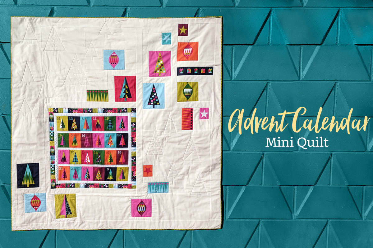 Advent Calendar Mini Quilt Free Pattern