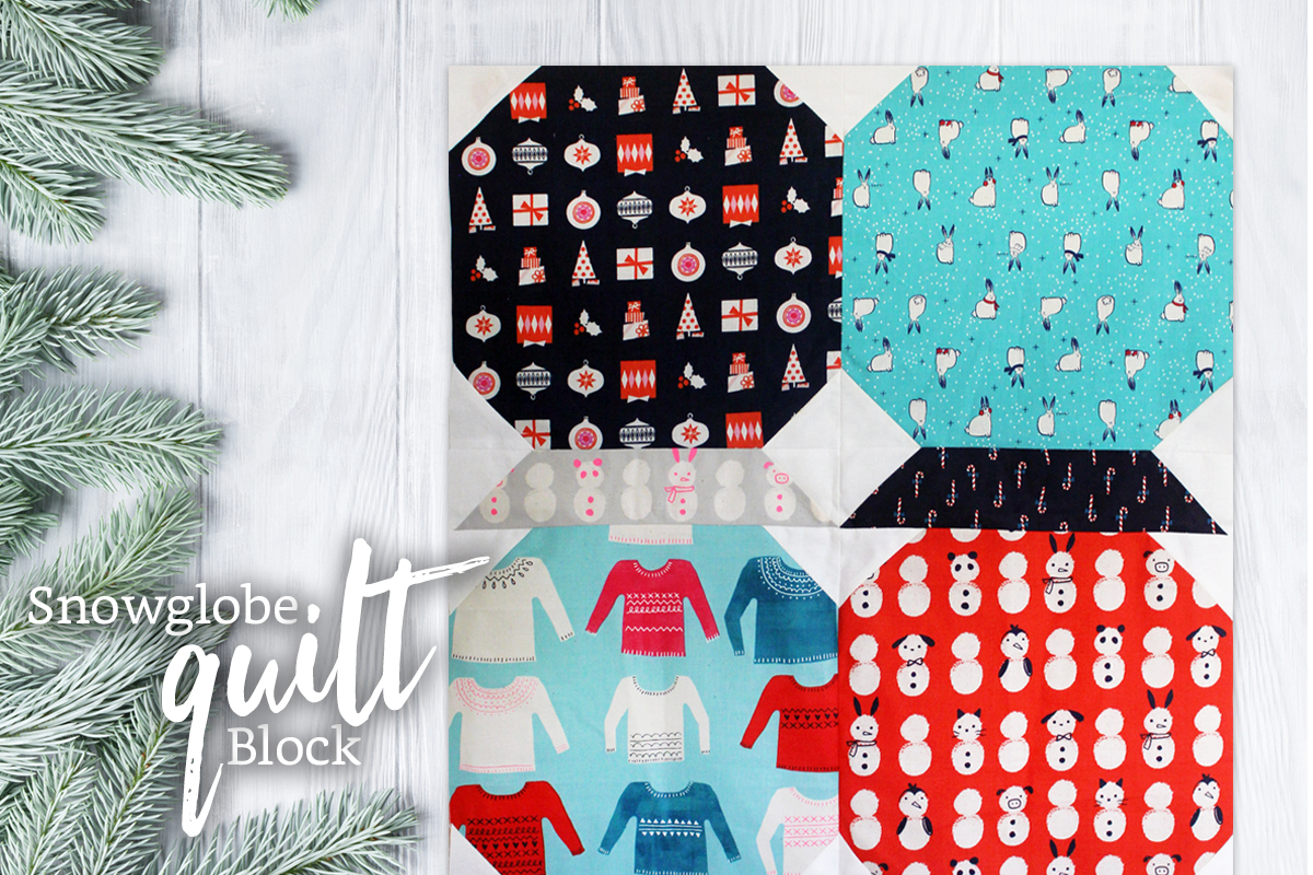 Holiday Snowglobe Quilt Block
