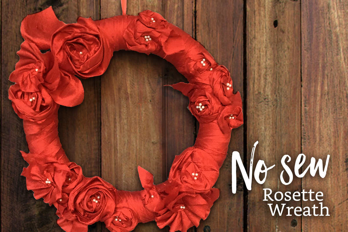 No Sew Rosette Wreath