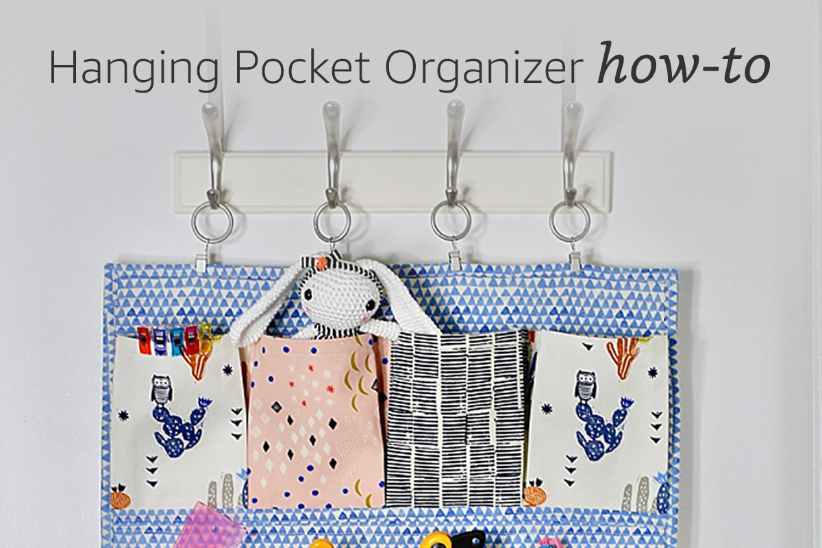 Hanging Pocket Organizer How To Get Organized With This Diy