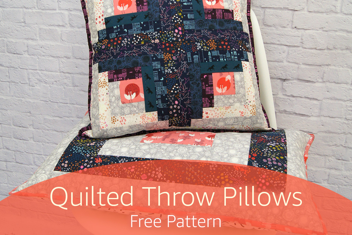 Free Throw Pillow Quilt Pattern : Free Patterns - Page 1 - fabric.com Blog