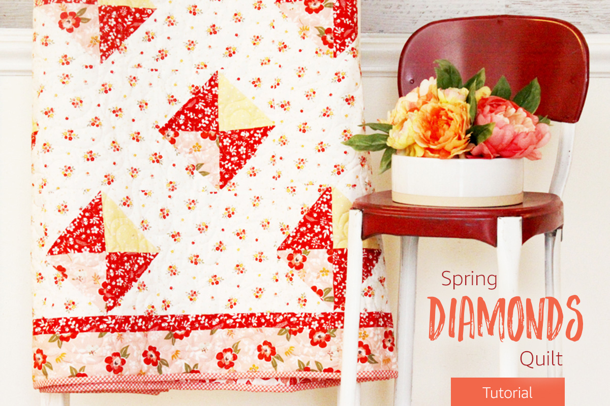 Spring Diamonds Quilt Tutorial