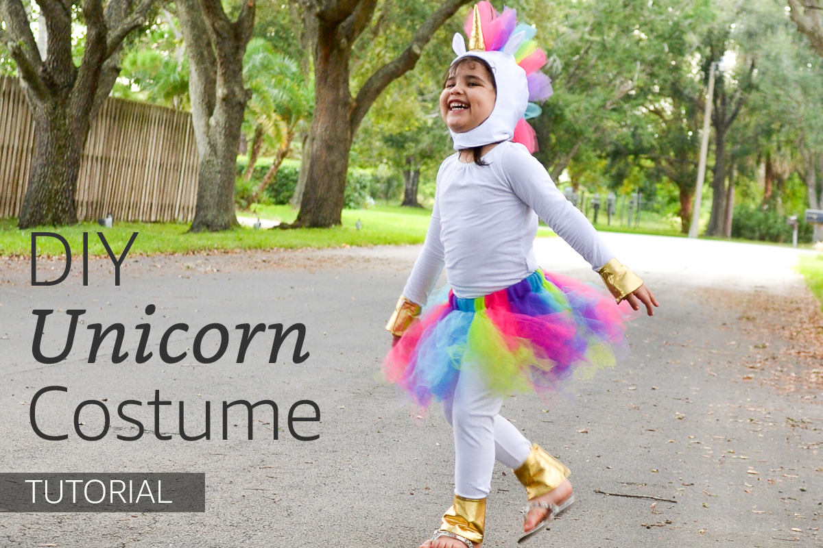 Rainbow Unicorn Costume Tutorial & Pattern