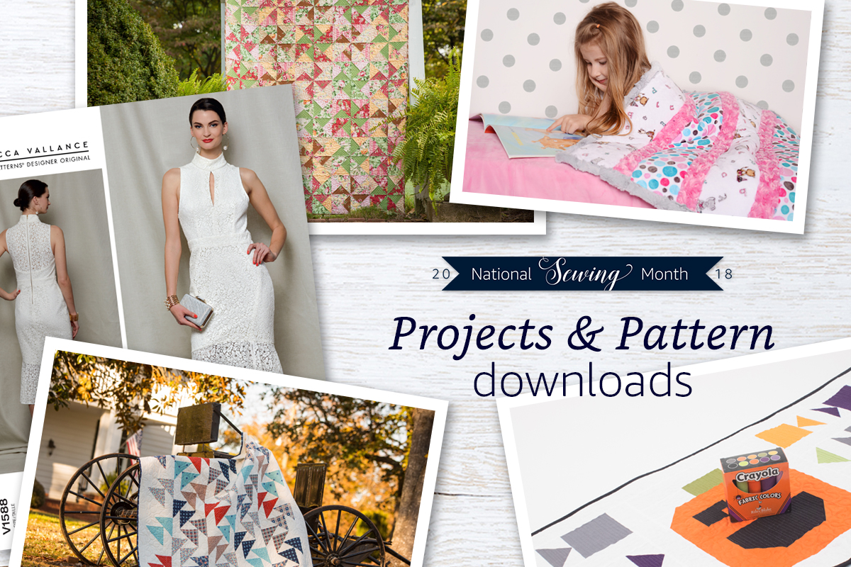 National Sewing Month 2018 Projects & Pattern Downloads
