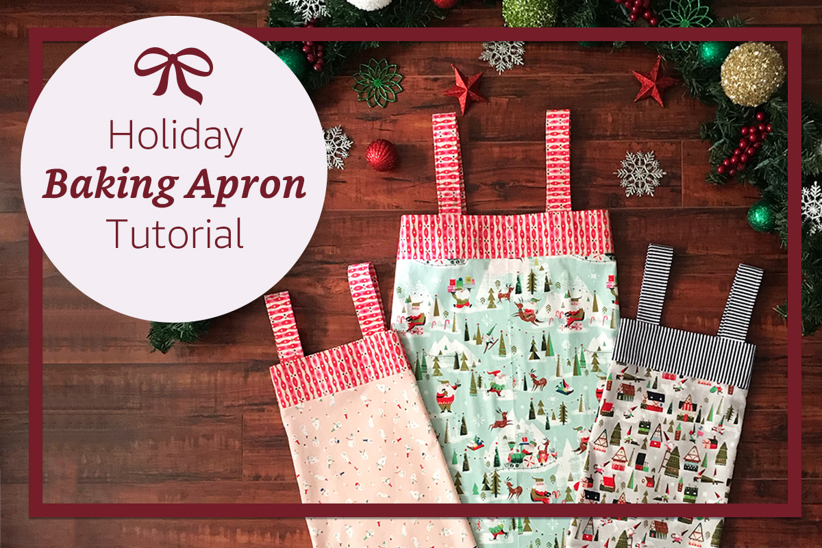 Holiday Baking Apron Tutorial