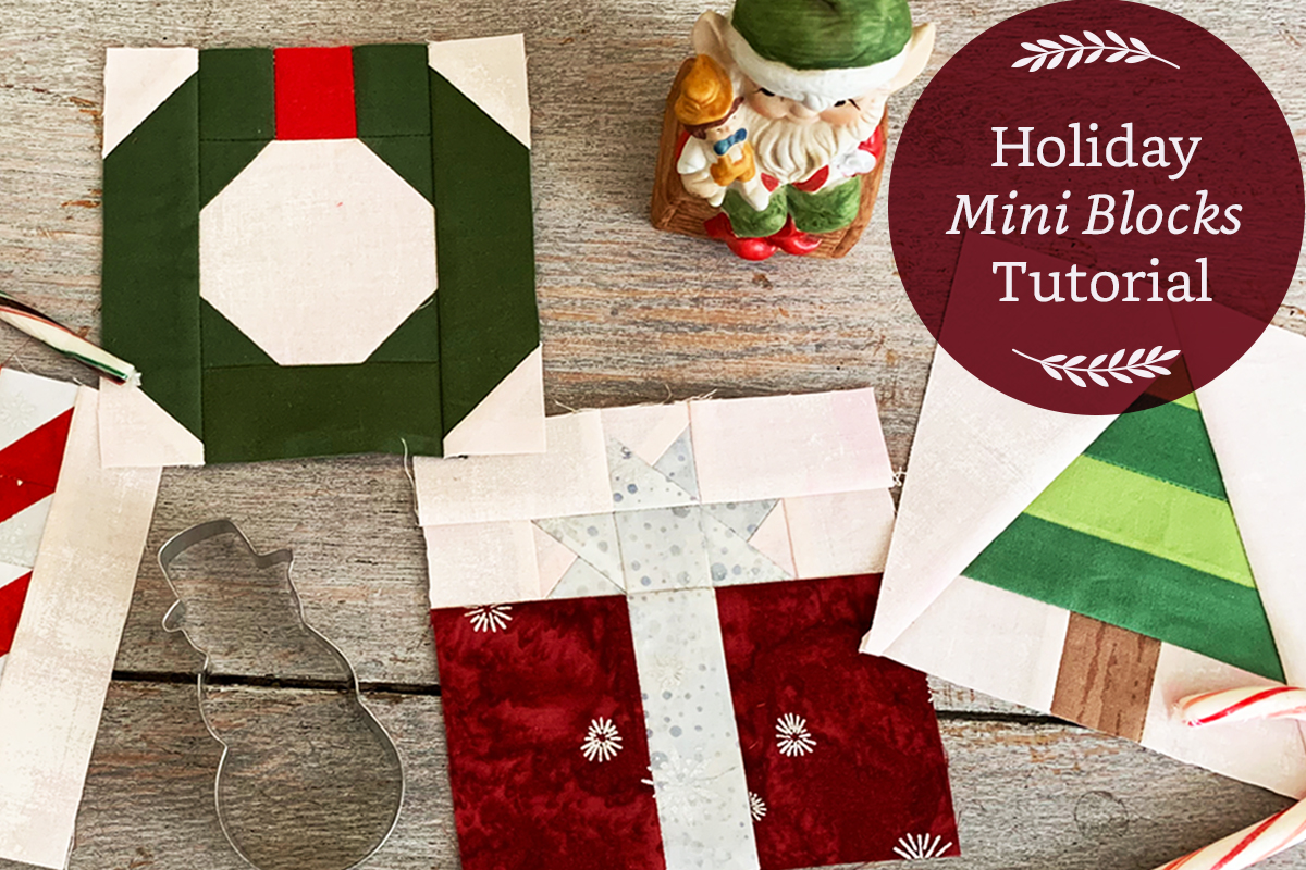 Holiday Mini Quilt Blocks Tutorial