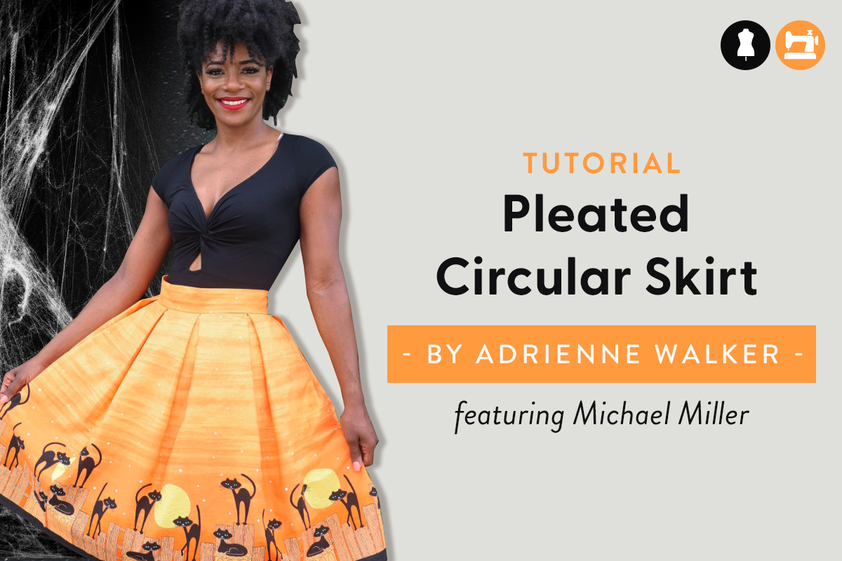 Halloween Pleated Circular Skirt Tutorial