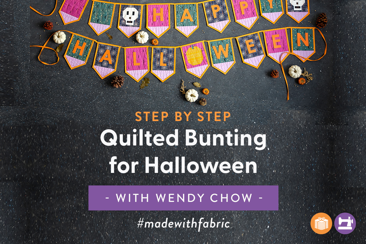 DIY Quilted Bunting for Halloween