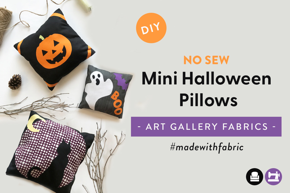 No Sew Halloween Mini Pillow Tutorial
