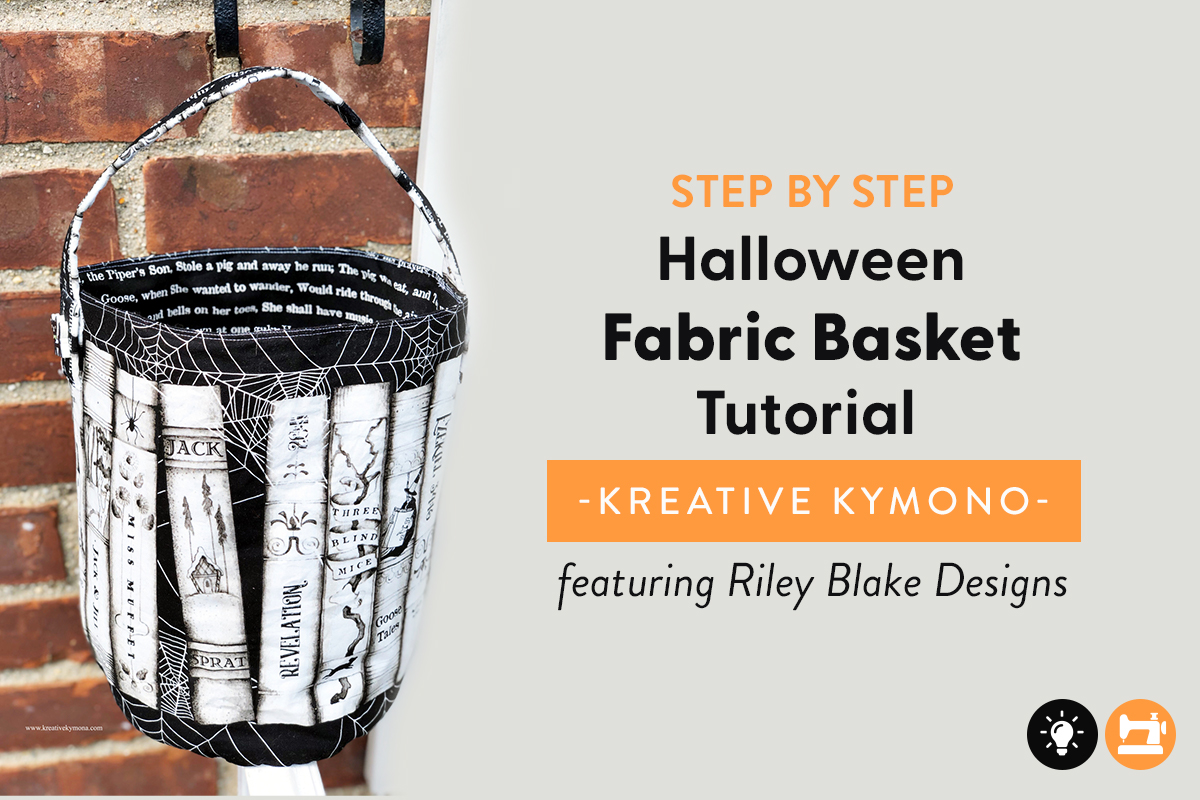 Halloween Fabric Basket Tutorial