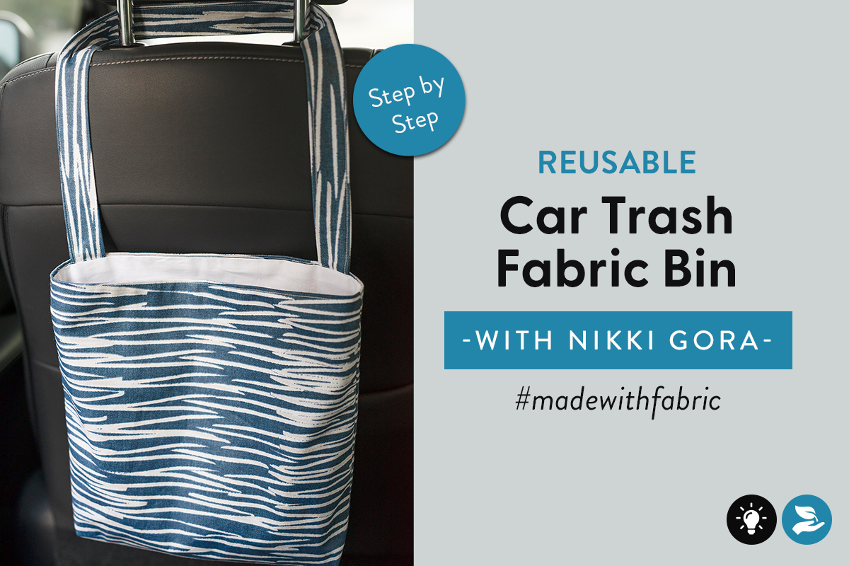 Reusable Car Trash Fabric Bin