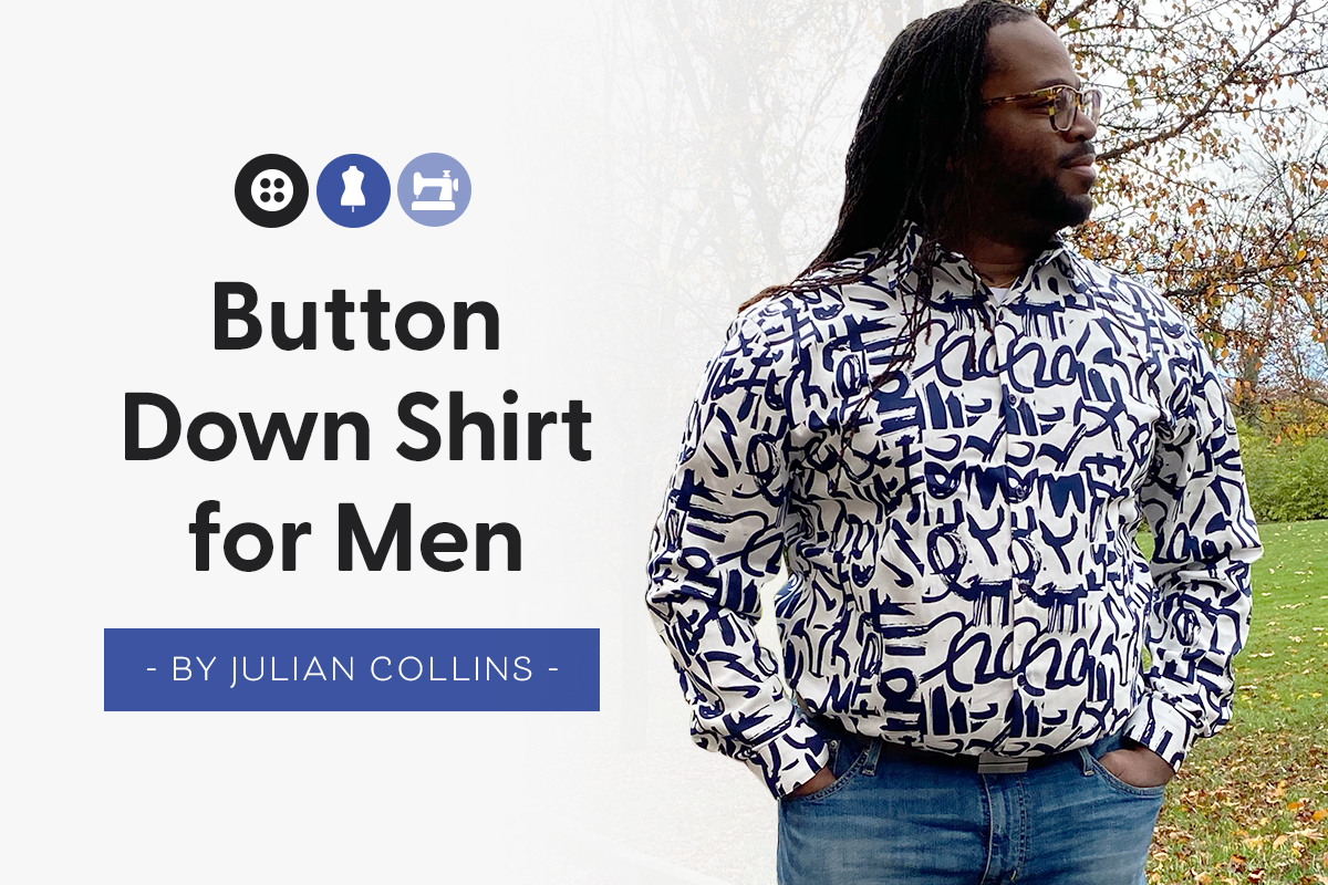 Button Down Shirt For Men  - Sew Along