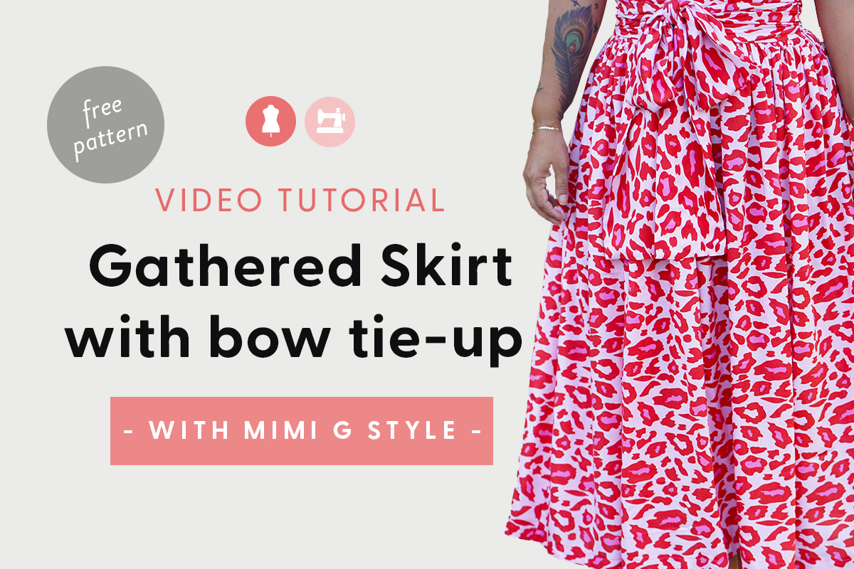 Gathered Skirt Tutorial with Bow Tie Up