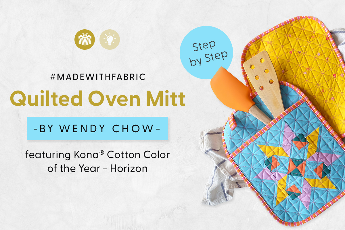 Quilted Oven Mitt feat. the Kona Cotton Color of the Year